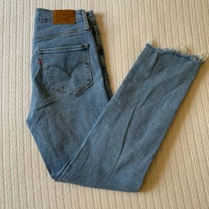 Levi's 724 High Rise Straight Cropped Jeans Sz 25